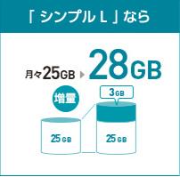 シンプルL 25GB