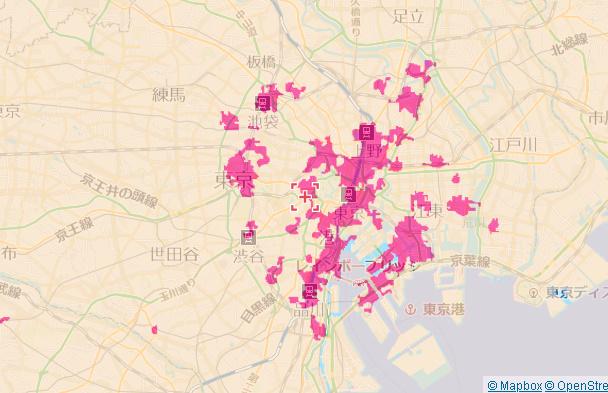 5Gエリア 東京都